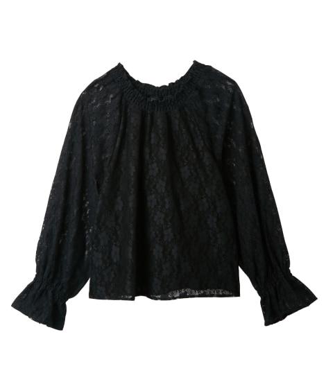 総レースブラウス(女の子 子供服。ジュニア服) (ブラウス)...