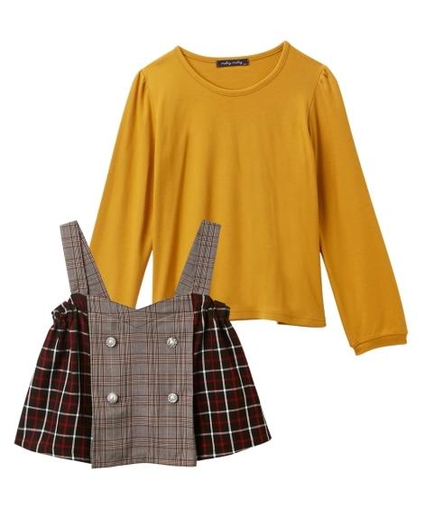 2点セット(Tシャツ+ビスチェ)(女の子 子供服。ジュニア服...