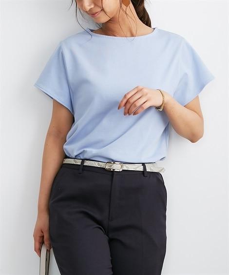 【お仕事Tシャツ】ひんやりさらっと素材♪後ろタックプルオーバ...