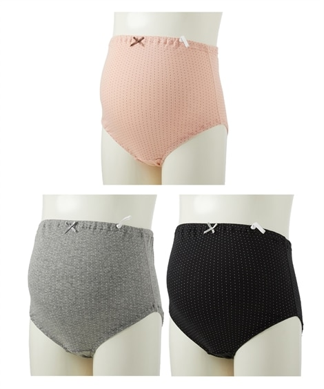 【産前】【ローズマダム】綿100%肌にやさしい マタニティショーツ3枚組 (マタニティショーツ) Maternity clothing