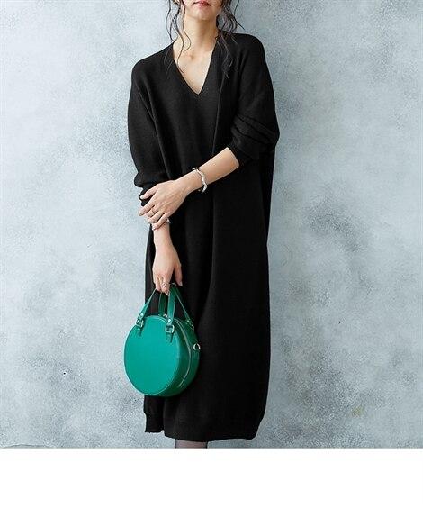 【Hana服】ホールガーメント? 縫い目のない美しいニットワンピース (ワンピース)Dress