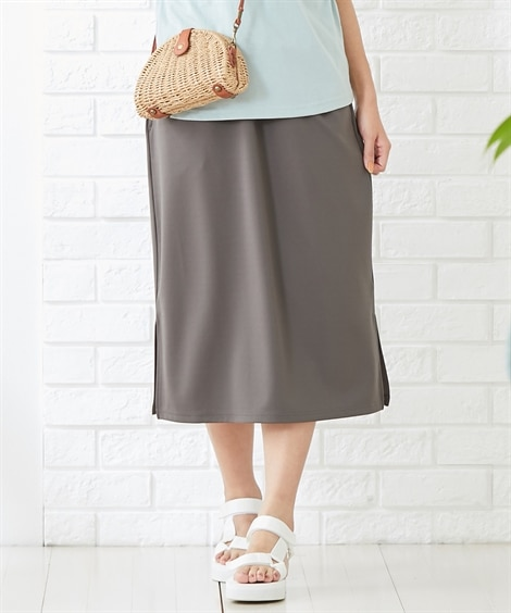 【産前・産後】カットソーマタニティらくちんロングスカート (マタニティウエア・授乳服) Maternity clothing