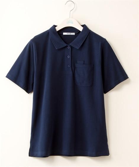 【再入荷】綿100% ペン差しポケット付ワークポロシャツ (...