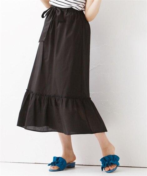 ウエストリボンフレアスカート【Joky gal】 (大きいサ...