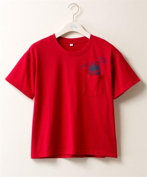 バッドばつ丸 ポケット付ゆるTシャツ (大きいサイズレディー...