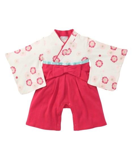 女児袴風カバーオール 【ベビー服】