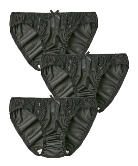 フェアリー リボン通しサニタリーショーツ昼用3枚組(羽付ナプキン対応)(3L) サニタリー(生理用ショーツ)Panties