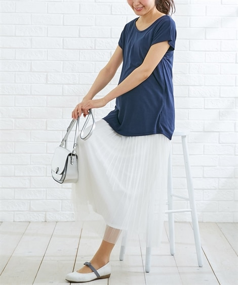 【授乳服 産前 産後】後ろタック使いマタニティプルオーバー ...