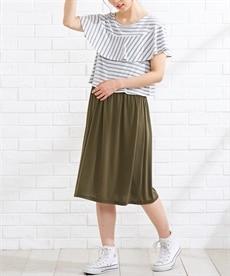 <ニッセン>半袖マキシ丈マタニティワンピース (マタニティウエア・授乳服) 3