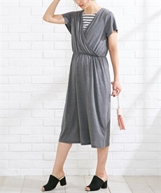 <ニッセン>半袖マキシ丈マタニティワンピース (マタニティウエア・授乳服) 11