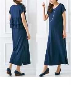 <ニッセン>半袖マキシ丈マタニティワンピース (マタニティウエア・授乳服) 13