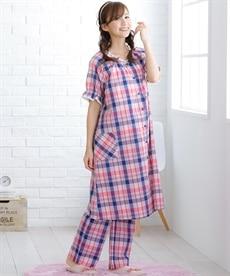 <ニッセン>半袖マキシ丈マタニティワンピース (マタニティウエア・授乳服) 26