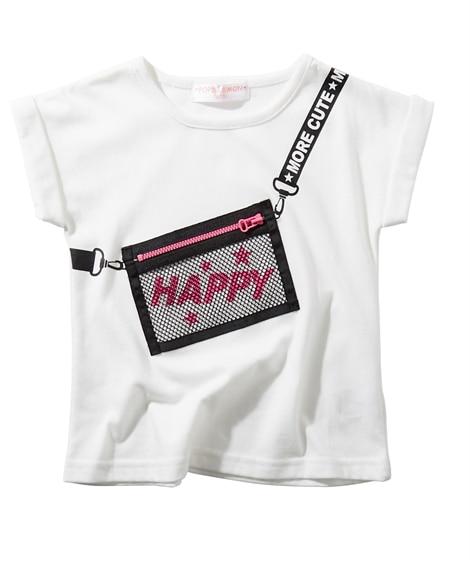 メッシュポーチ貼付けTシャツ(女の子 子供服) (Tシャツ・...