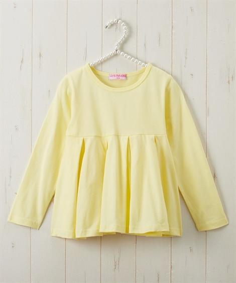 綿100%ウエスト切替AラインTシャツ(女の子 子供服・ジュニア服) (Tシャツ・カットソー)Kids' T-shirts