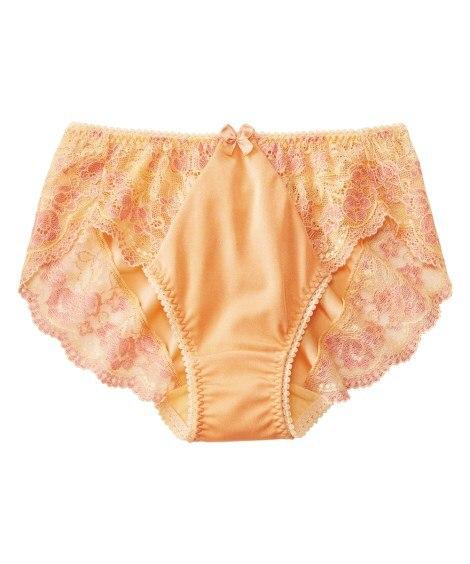 カラフルパレットペアショーツ(チューリップ柄)(日本製レース)(L) スタンダードショーツ, Panties