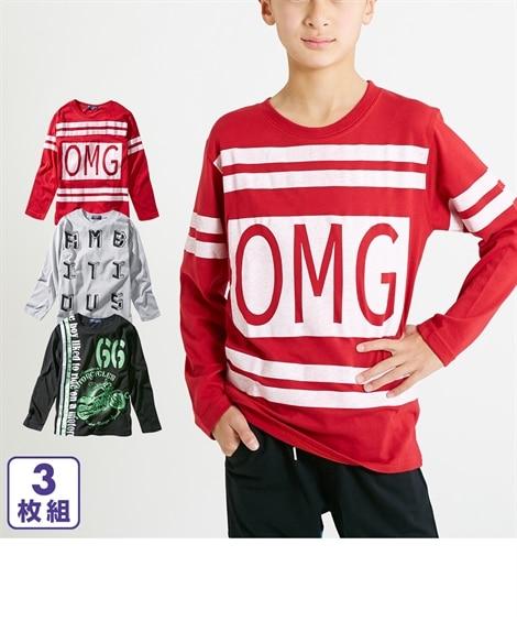 0559ed5850aad 綿混プリント長袖Tシャツ3枚組(男の子 子供服・ジュニア服) 通販 ...