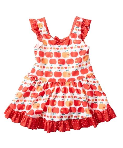 リンゴ柄ワンピース水着(女の子 子供 水着) ファッション水...