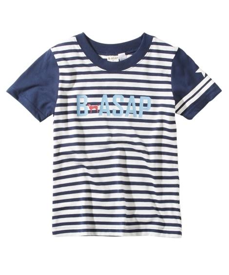 B-ASAP プリント半袖Tシャツ(男の子 子供服) Tシャ...