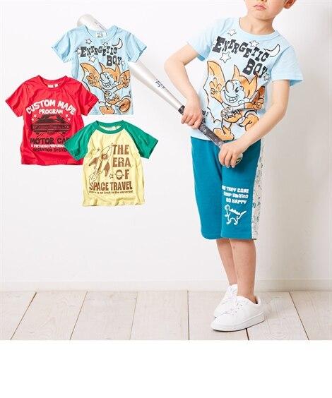 1783589815fe7 プリント半袖Tシャツ3枚組(男の子 子供服) Tシャツ・カットソー お買い得プライス!楽しいプリント柄のTシャツ3枚組です。毎日、選ぶのが楽しくなりそう♪  プリント ...