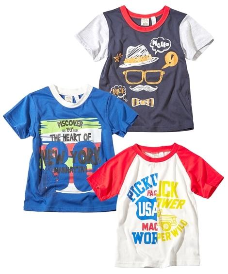 プリント半袖Tシャツ3枚組(男の子 子供服) Tシャツ・カッ...