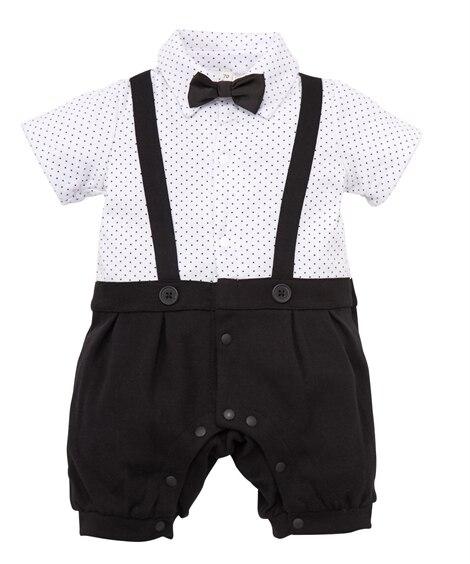 吊りズボン風 フォーマル半袖カバーオール(男の子 子供服。ベ...