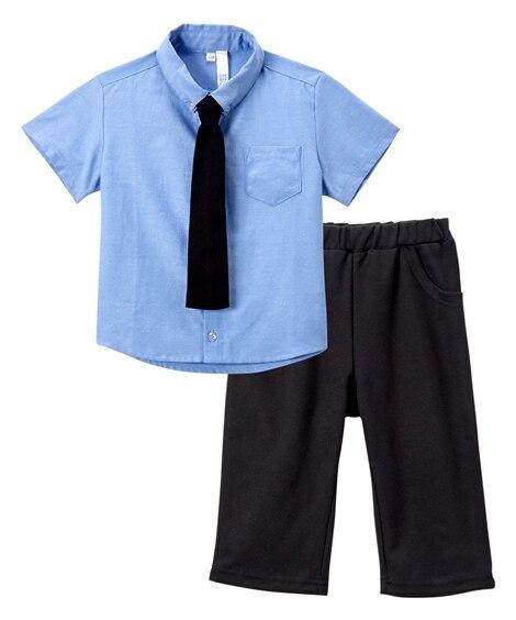 ネクタイ付半袖シャツスーツ(男の子 ベビー服 子供服) キッズフォーマル, Kid's Suits