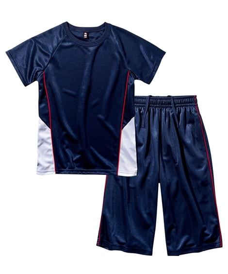 【もっとゆったりサイズ】Tスーツ(半袖Tシャツ+ハーフパンツ)(男の子 女の子 子供服 ジュニア服) キッズジャージ, Kid's Sportswear