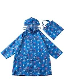 <ニッセン> ランドルセル対応 収納袋付はっ水コート(女の子) レインコート・ポンチョ・雨合羽 23