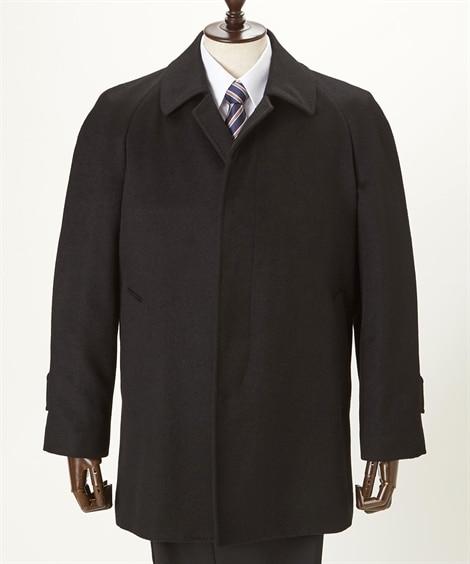 カシミヤ100%ステンカラーコート コート, Coat...