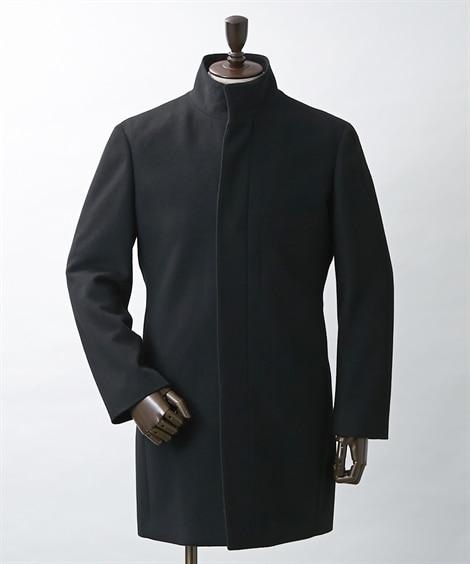 ウール混スタンドカラーコート コート, Coat, 大衣