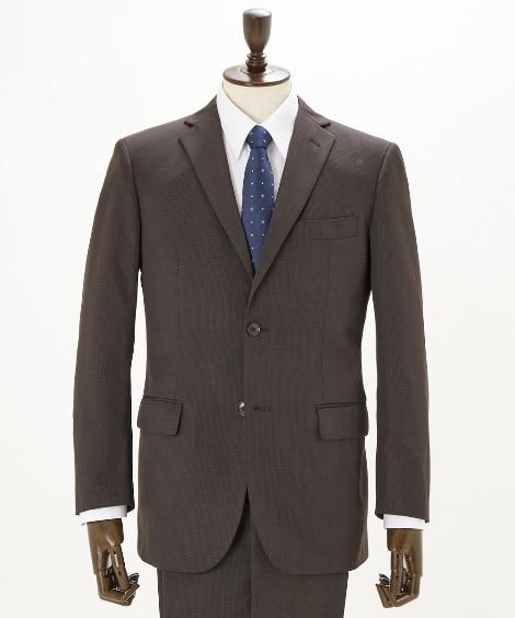 【紳士服】 ウール混格子柄シングル2つボタン総裏スーツ(レギュラーノータックパンツ) ビジネススーツ, Suits