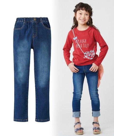 すごく伸びるデニムスキニーパンツ(男の子。女の子 子供服。ジ...