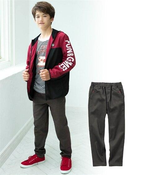 ツイルテーパードパンツ(男の子。女の子 子供服 ジュニア服) パンツ, Kids' Pants