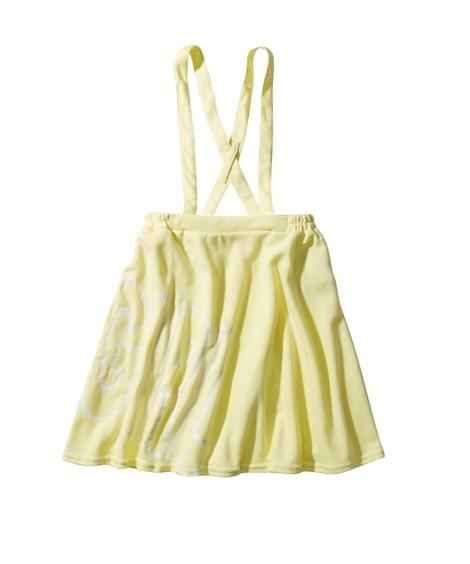サスペンダー付きロゴプリントスカート(女の子 子供服。ジュニア服) キュロット・パンツインスカート・スカート, Girls Skirts