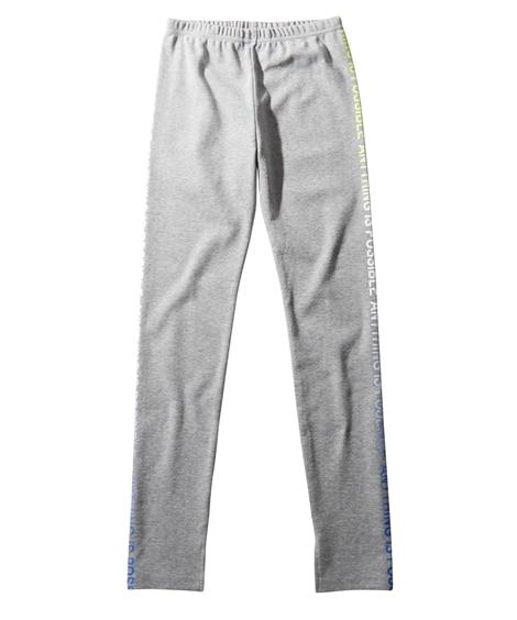サイドレインボーロゴ9分丈レギンス(女の子 子供服。ジュニア服) パンツ, Kids' Pants