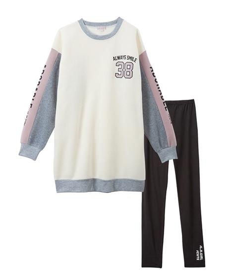 2点セット(裏起毛ワンピース+レギンス)(女の子 子供服。ジュニア服) ワンピース, Kids' Dress