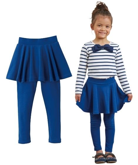253d2d78a5b80 フレアスカッツ(女の子 子供服。ジュニア服)レギンス付スカート (スカート付パンツ) キッズサイズでも安心して着用いただけるように、スカート丈を少し長めに設計  ...