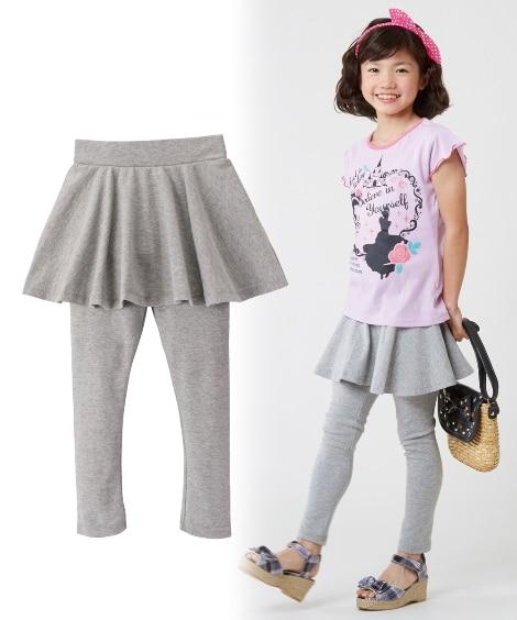 【子供服】 フレアスカッツ(女の子 子供服 レギンス付スカー...