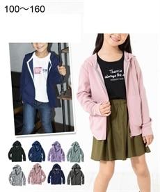 <ニッセン>【子供服】 無地ジップアップパーカー(男の子。女の子 子供服) 【キッズ】はおりもの(カーディガン・パーカー)画像