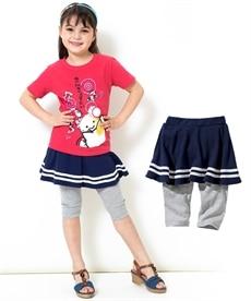 4008abd937484 子供服・子供用品 ネイビー スカッツ(スカート付パンツ) 通販 ニッセン