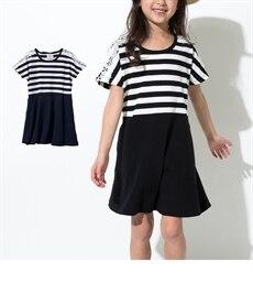f4570a8daab77 ボーダードッキングワンピース(女の子 子供服・ジュニア ...