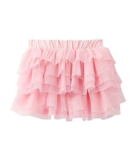 6段フリルチュールスカート。ひざ丈チュールスカート(女の子 ...