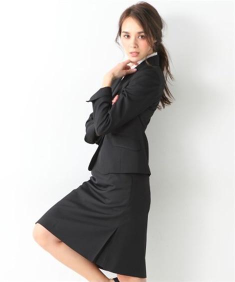 洗える◎足さばきのよいサイドタックタイトスカートスーツ 【レ...