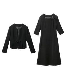 <ニッセン> 洗えるタテヨコストレッチロング丈パンツスーツ(ジャケット+ストレートパンツ) (大きいサイズレディース)スーツwomen's suits plus size 20