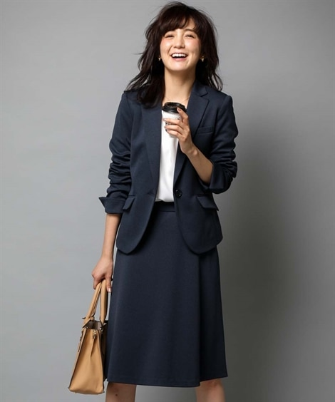 【SOBODY】カノコジャージースカートスーツ (大きいサイ...
