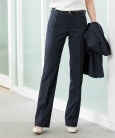 <ニッセン> 洗えるウール調9分丈テーパードストレッチパンツスーツ 通勤・社会人・リクルートスーツwomen's suits 11