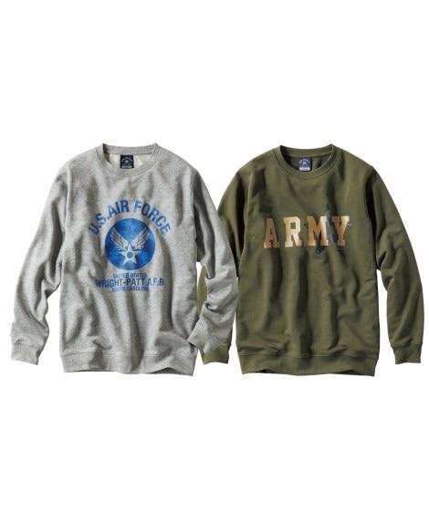 プリント長袖トレーナー2枚組(ミリタリー) Tシャツ・カット...