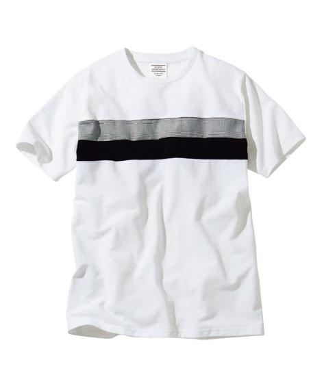 半袖切替柄Tシャツ Tシャツ・カットソー, T-shirts,