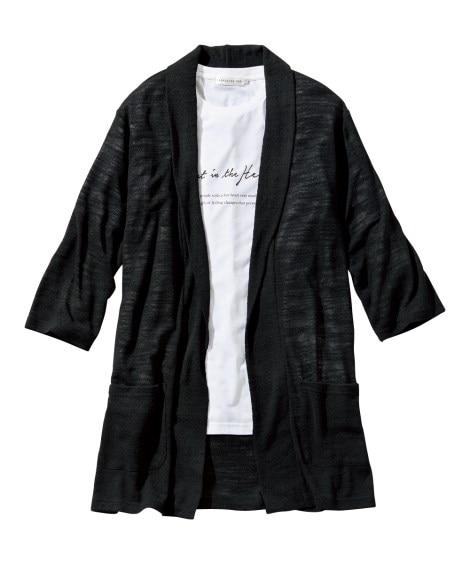 2点セット(7分袖ロング丈カーディガン+Tシャツ) Tシャツ・カットソー, T-shirts,
