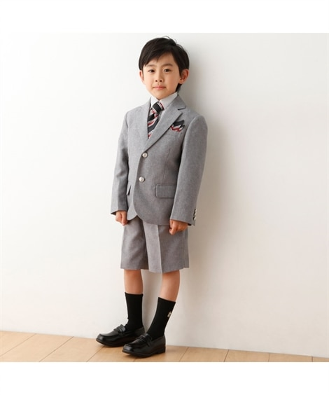 67024fafdaf4f 着用イメージ クルーソックス  男児フォーマル丈違いソックス3足組(ハイソックス・オーバーニー)-()